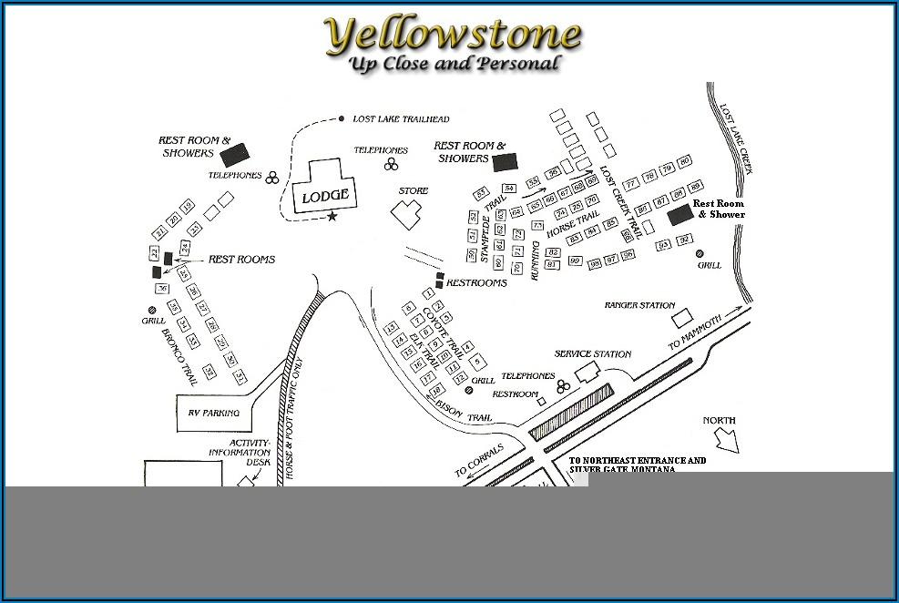 Yellowstone Cabin Map