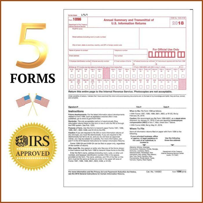 1096 Irs Form 2018