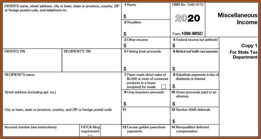 1096 Irs Forms 2019