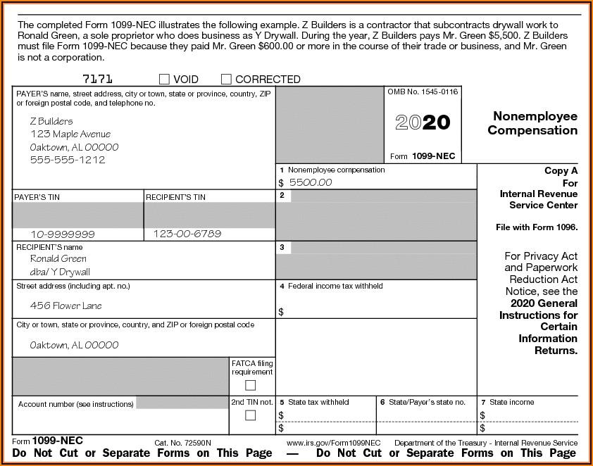 1099 Nec Forms Printable