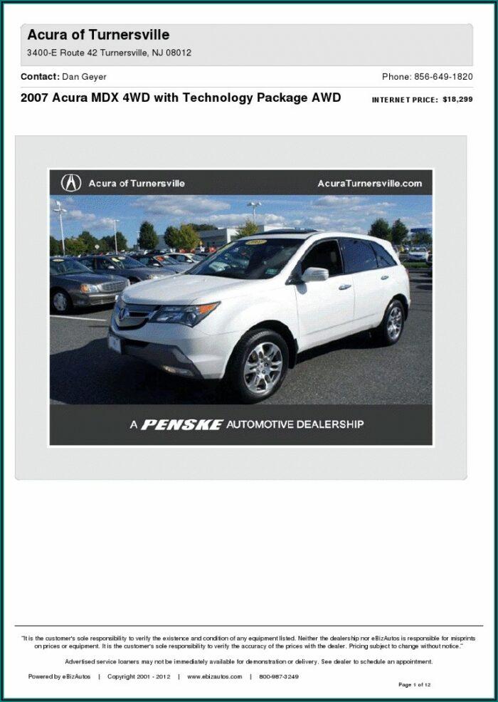 2009 Acura Mdx Brochure Pdf
