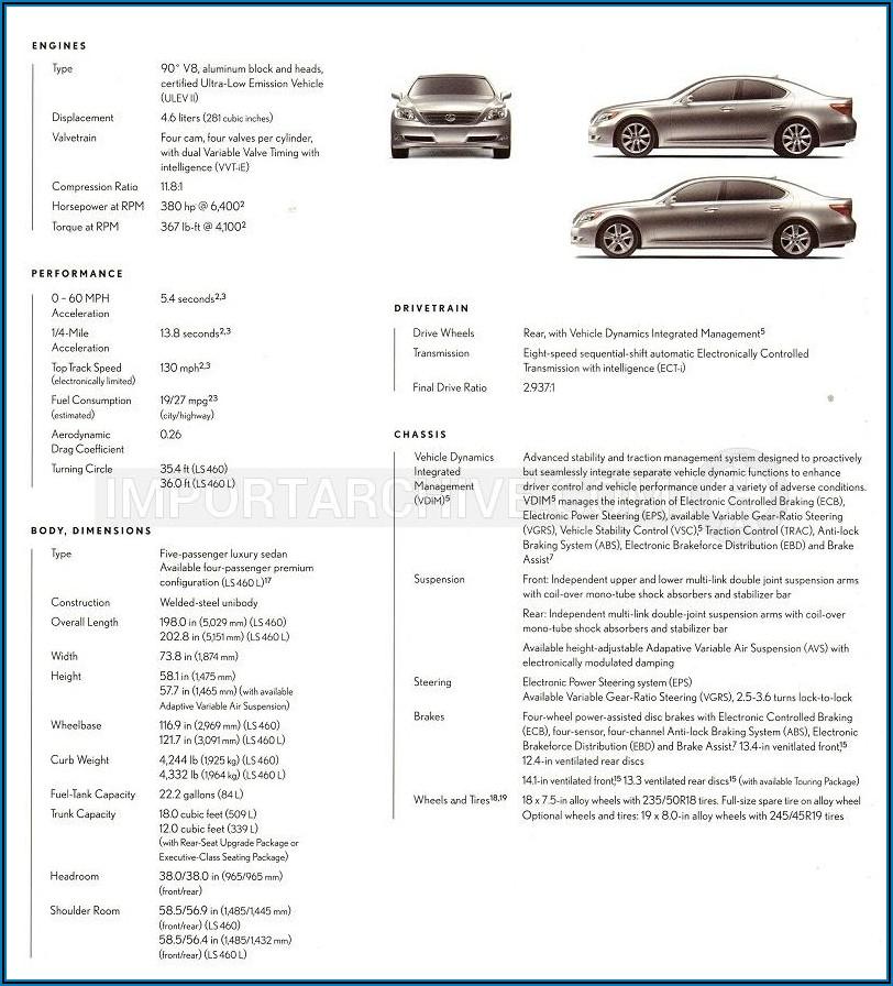 2016 Lexus Ls 460 Brochure