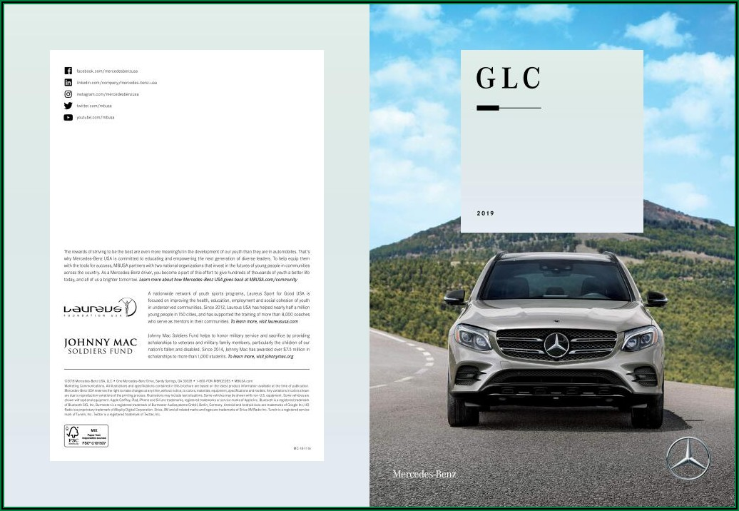 2016 Mercedes Glc Brochure Pdf Uk