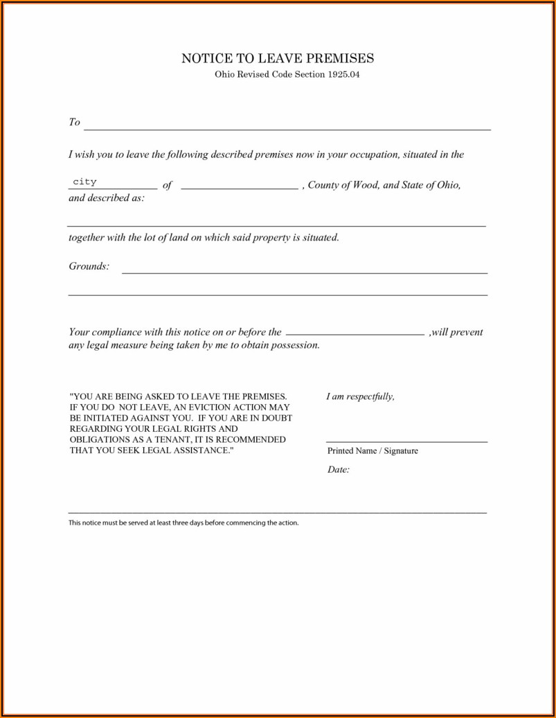 3 Day Eviction Notice Form Pdf