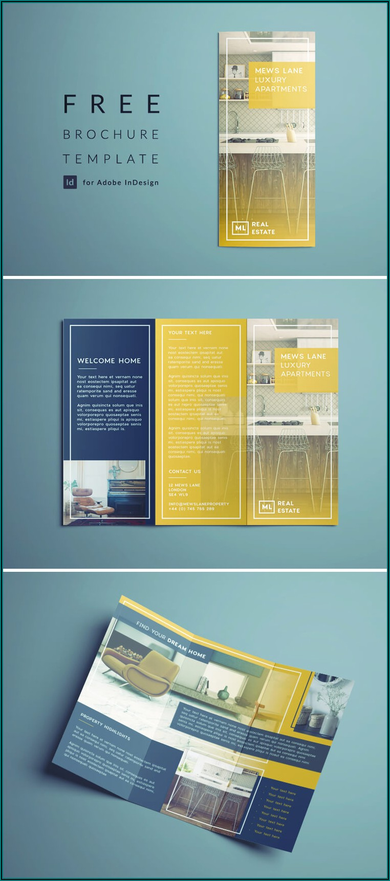 3 Fold A4 Brochure Template Indesign