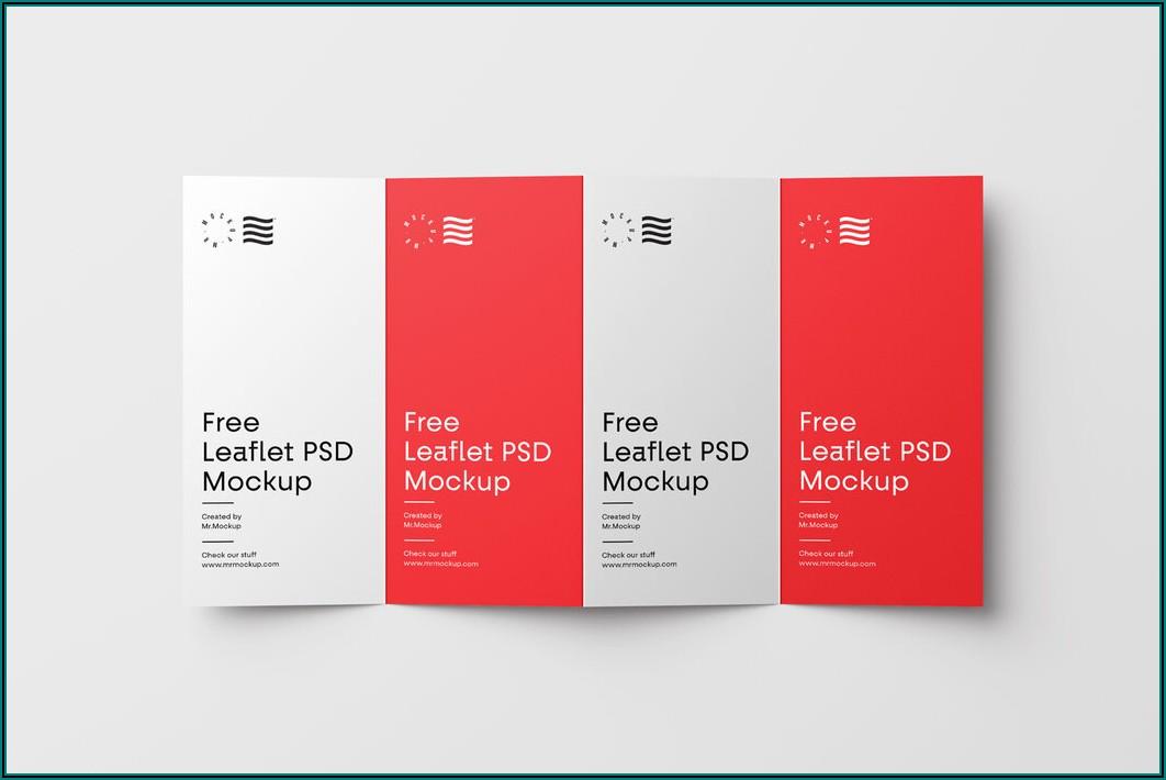 4 Fold Brochure Mockup Free Download