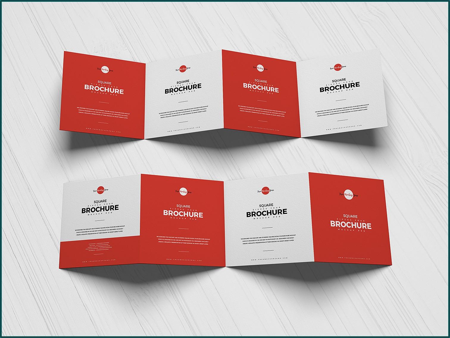 4 Fold Brochure Mockup Free