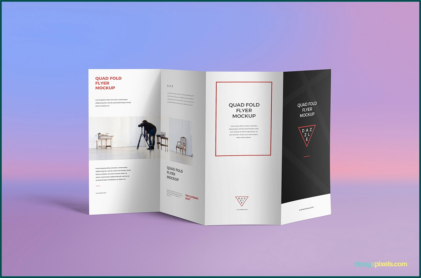 4 Fold Brochure Mockup Psd Free Download