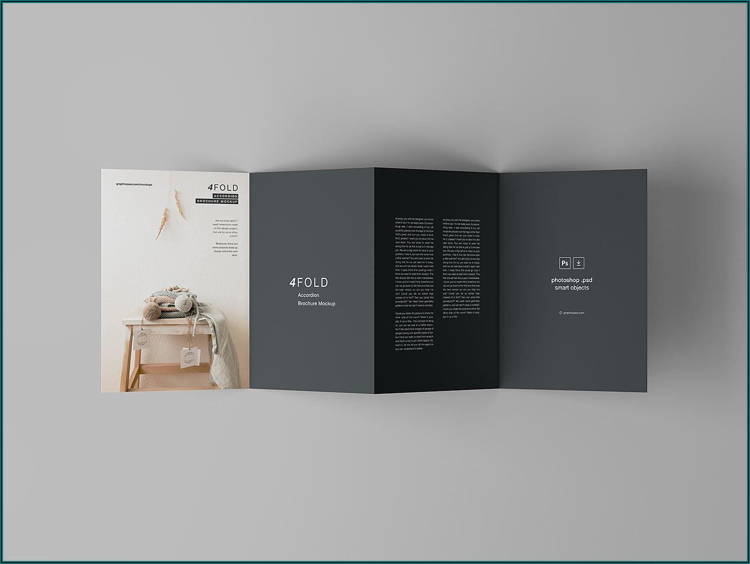 4 Fold Brochure Mockup Psd Free
