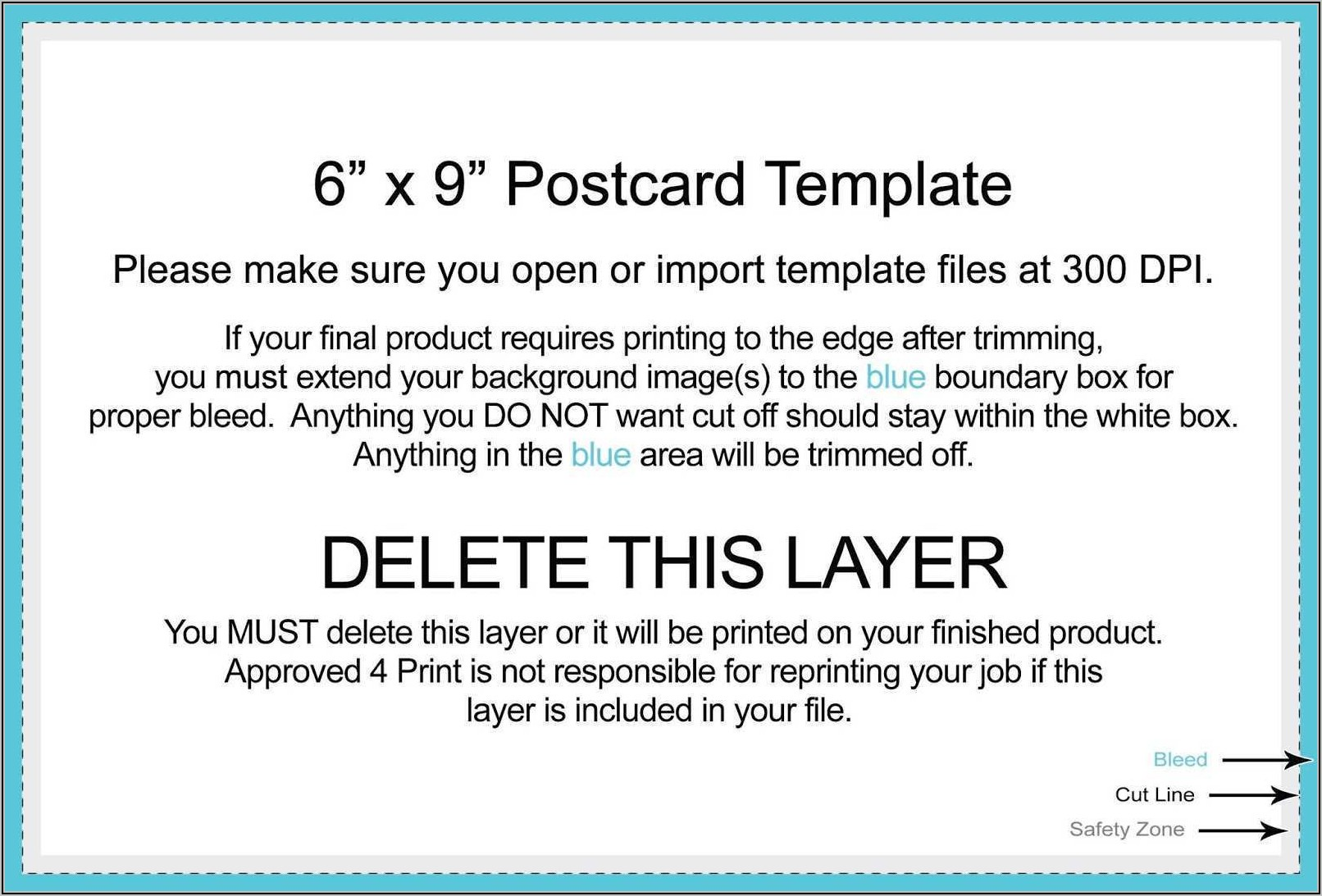 9x6 Postcard Template