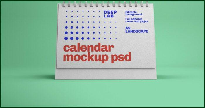 A4 Landscape Brochure Mockup Psd Free Download