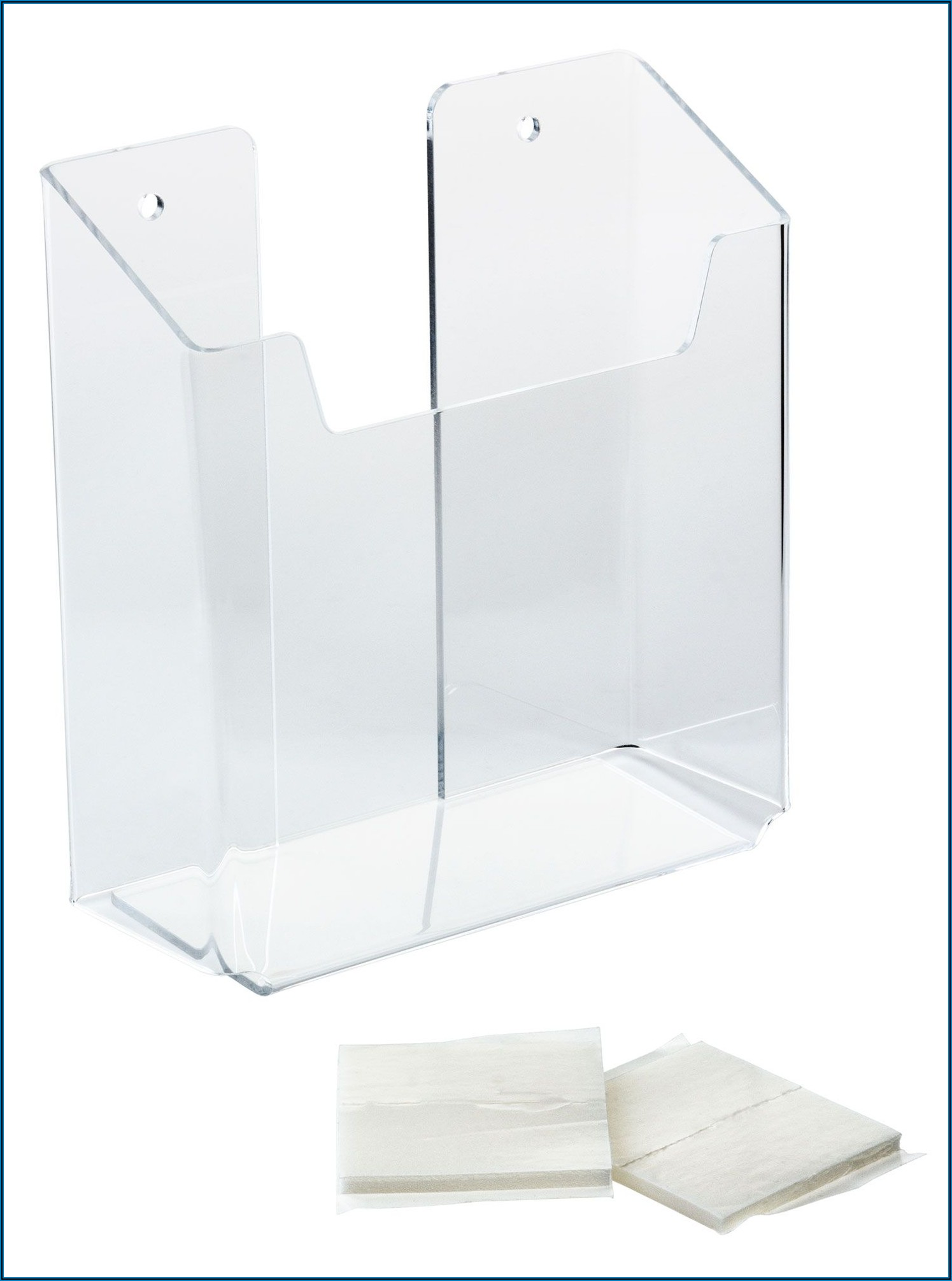 Acrylic Brochure Wall Rack 5.5 W Single Pocket Clear