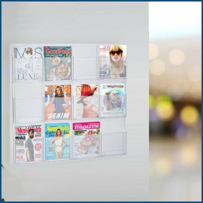 Acrylic Leaflet Holder Wall Mounted