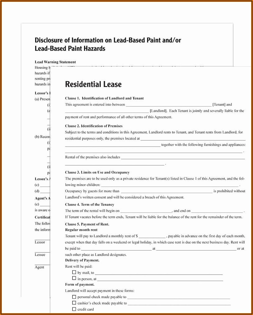 Adams Residential Lease Agreement