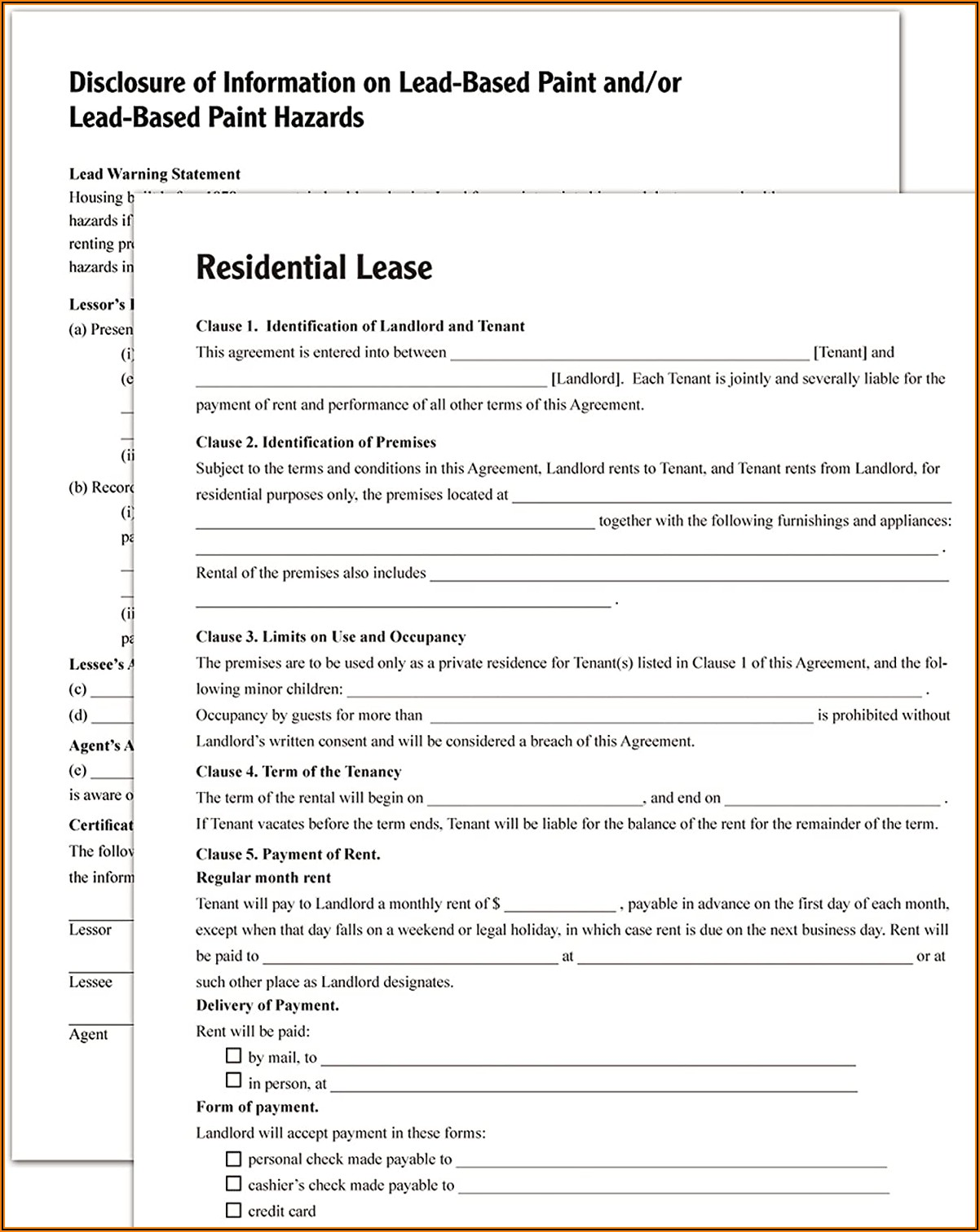 Adams Residential Lease Forms And Instructions Print And Downloadable (lf310)