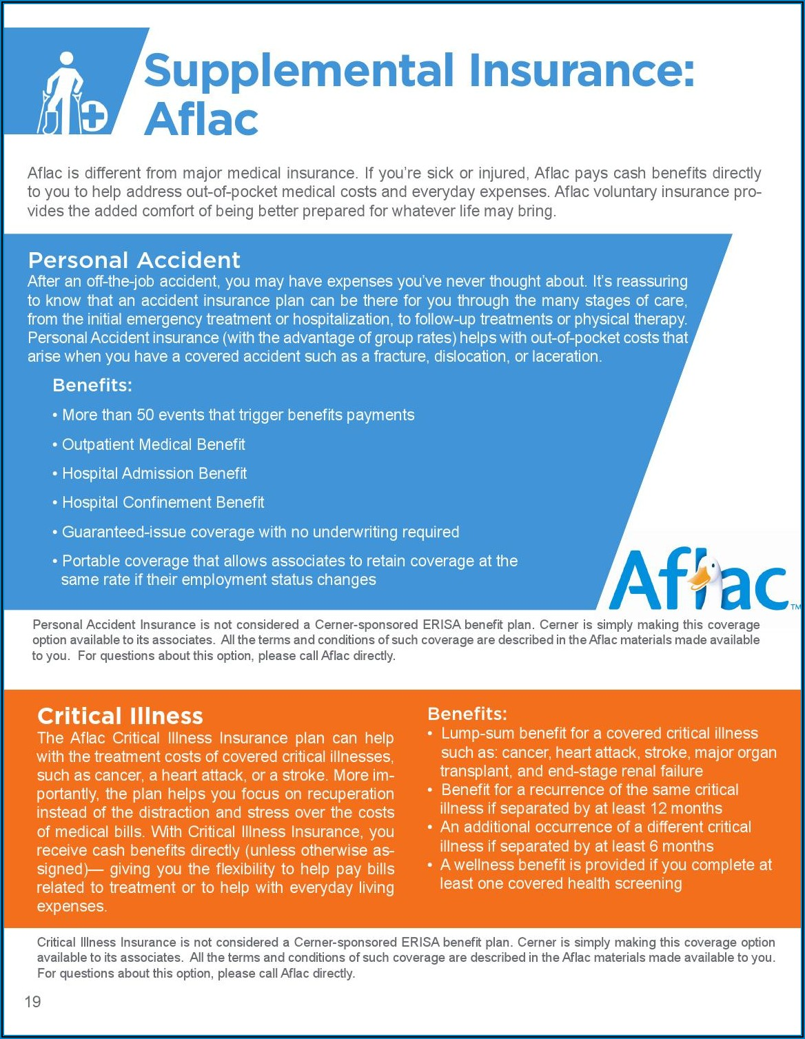 Aflac Group Accident Insurance Brochure
