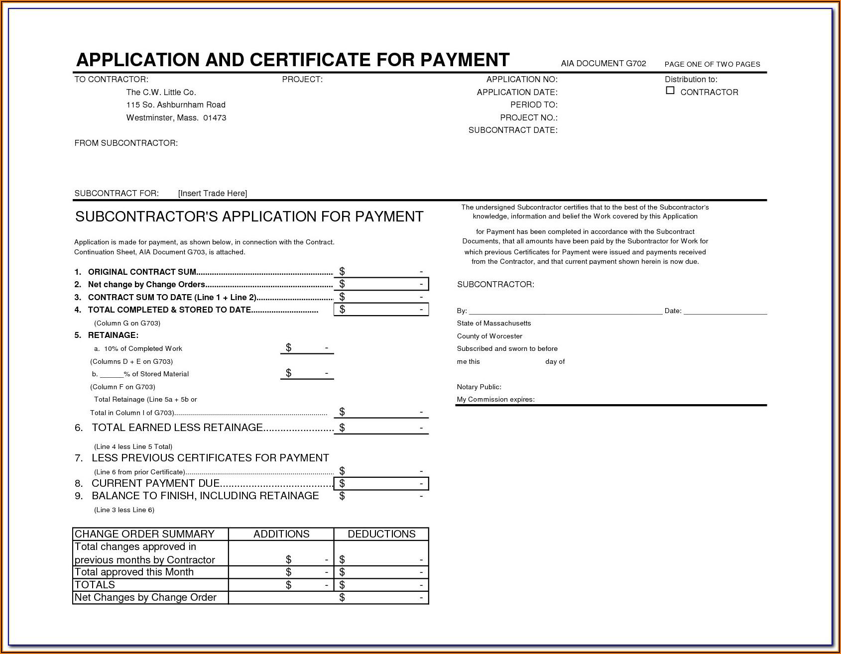 Aia Document G702 Pdf
