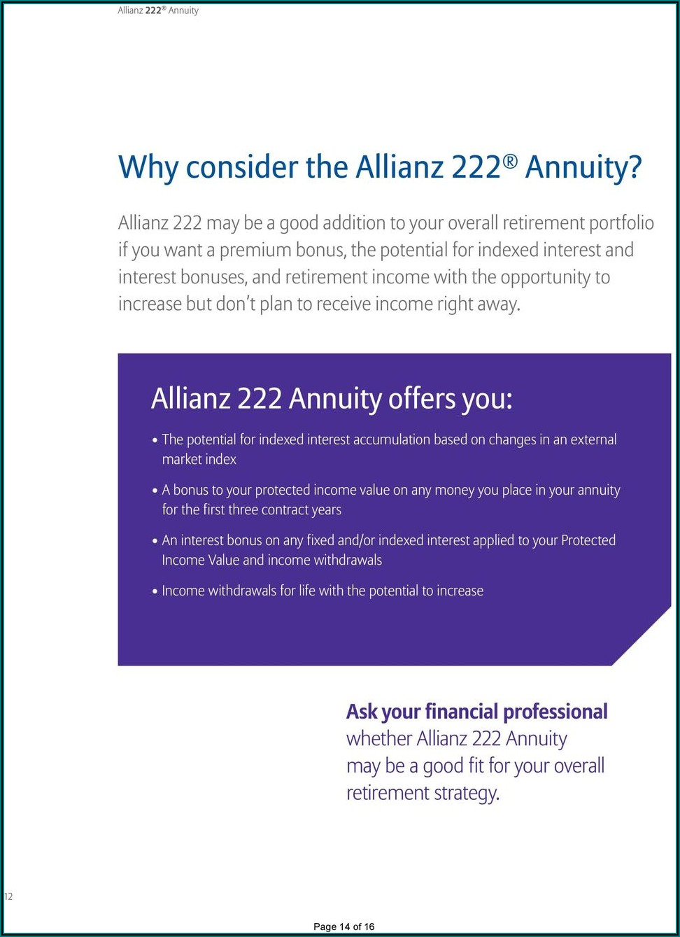 Allianz 222 Brochure Pdf