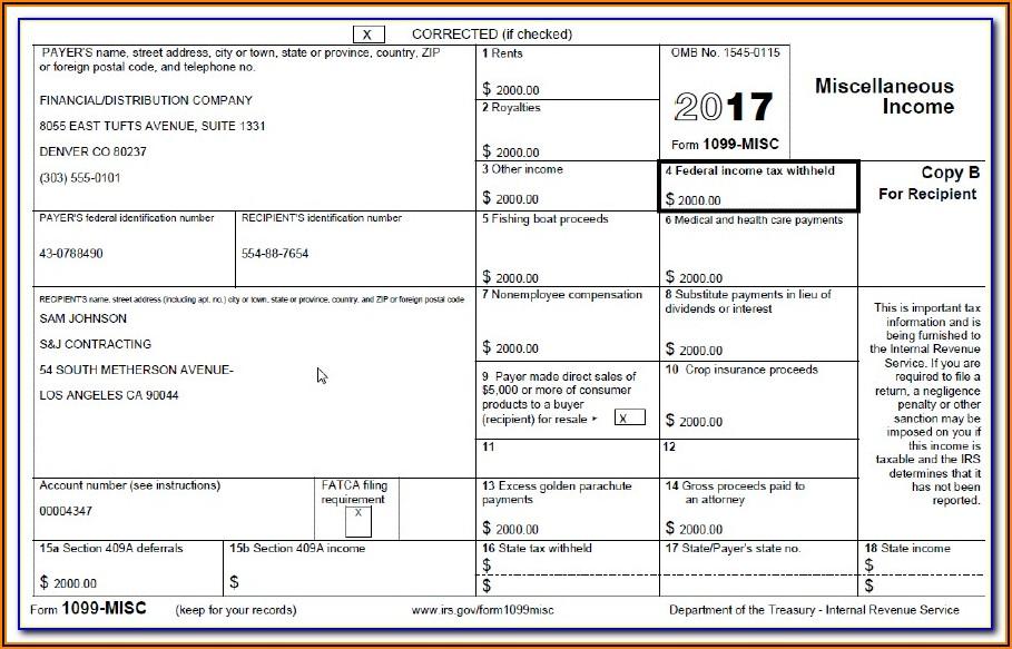 Baa Form 1099 Misc
