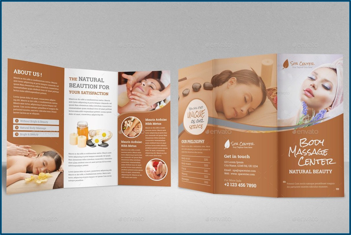 Beauty Salon Brochure Template Free