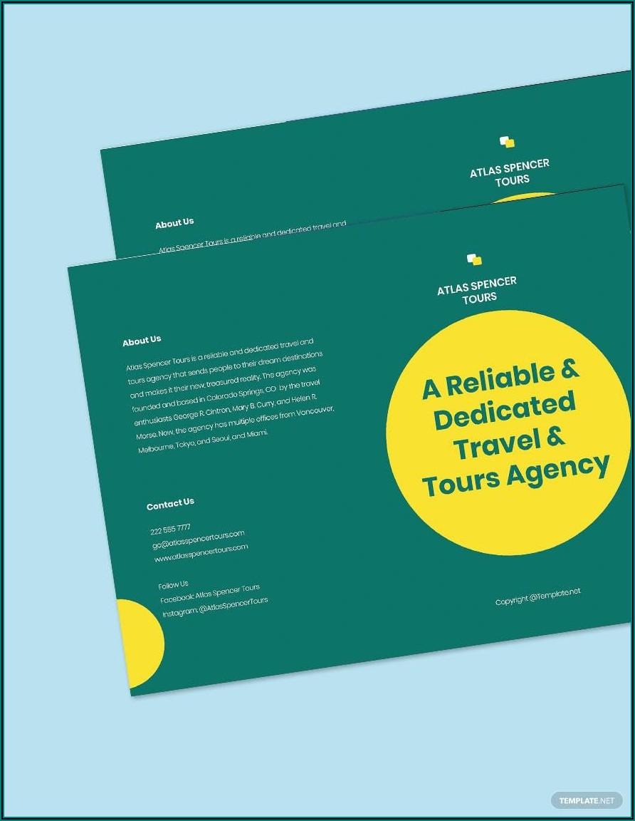 Bi Fold Brochure Word Template Free