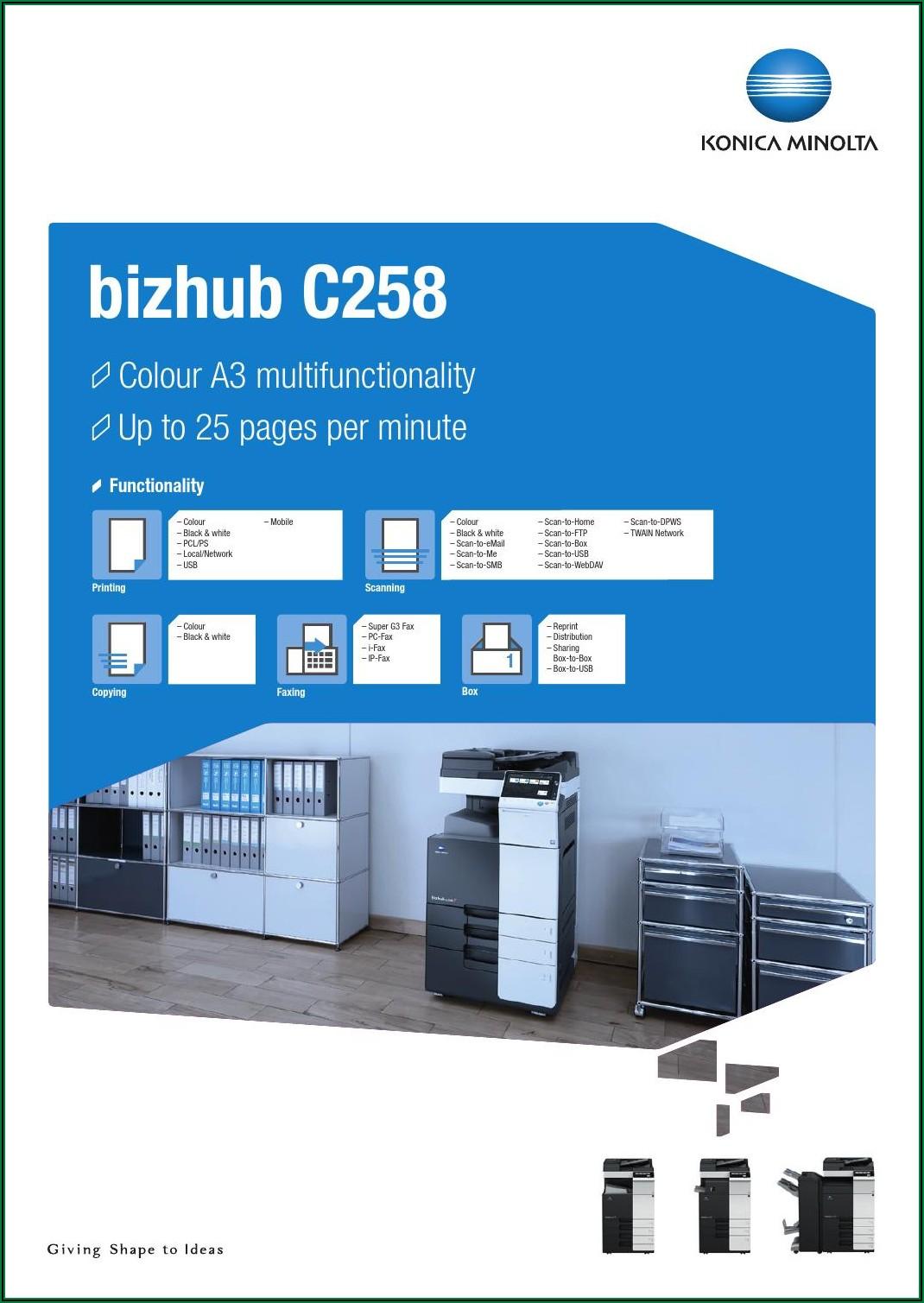 Bizhub C258 Brochure Pdf