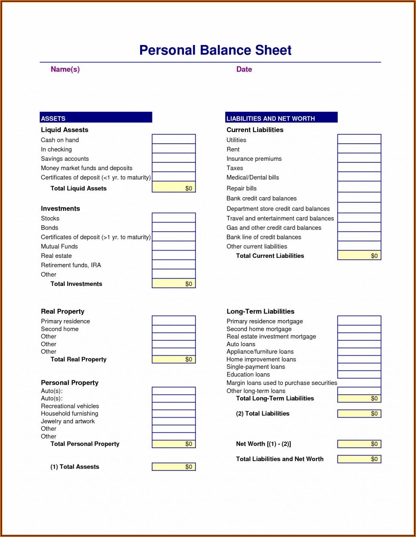 Blank Balance Sheet Format