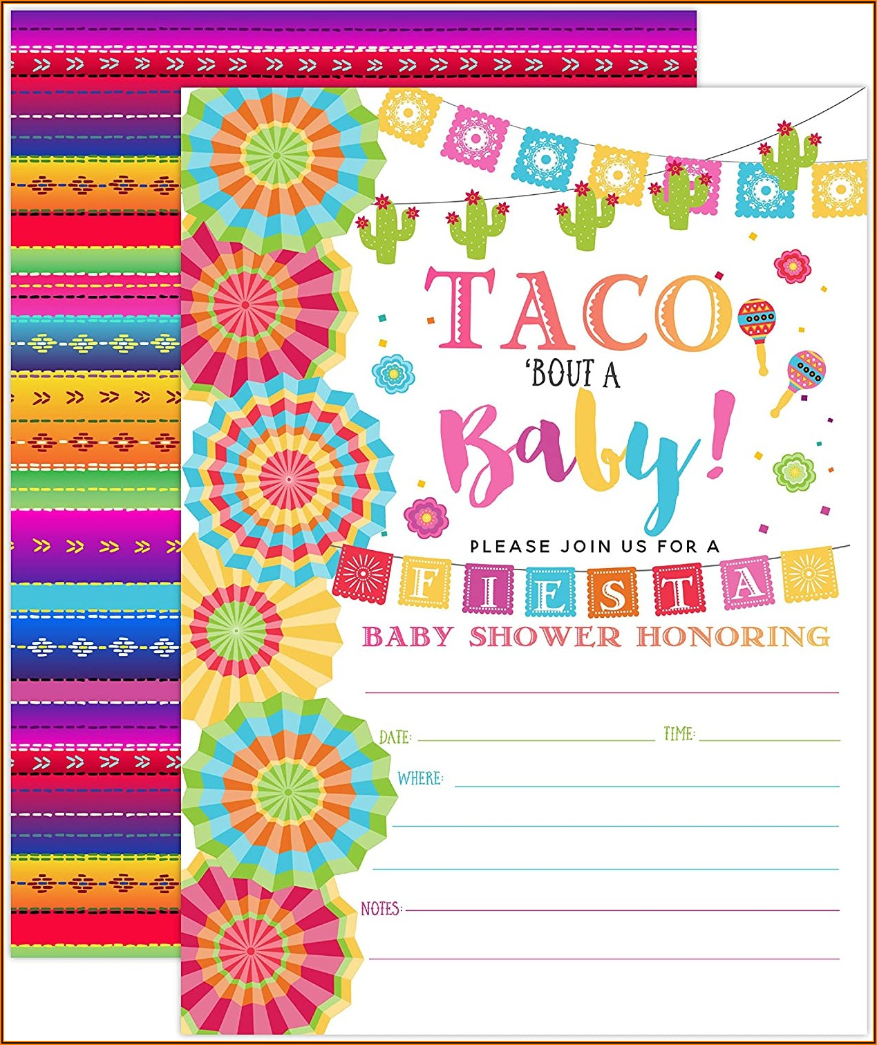Blank Mexican Theme Invitations Template