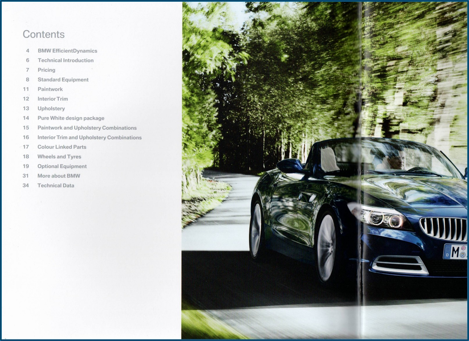 Bmw Z4 Brochure Uk