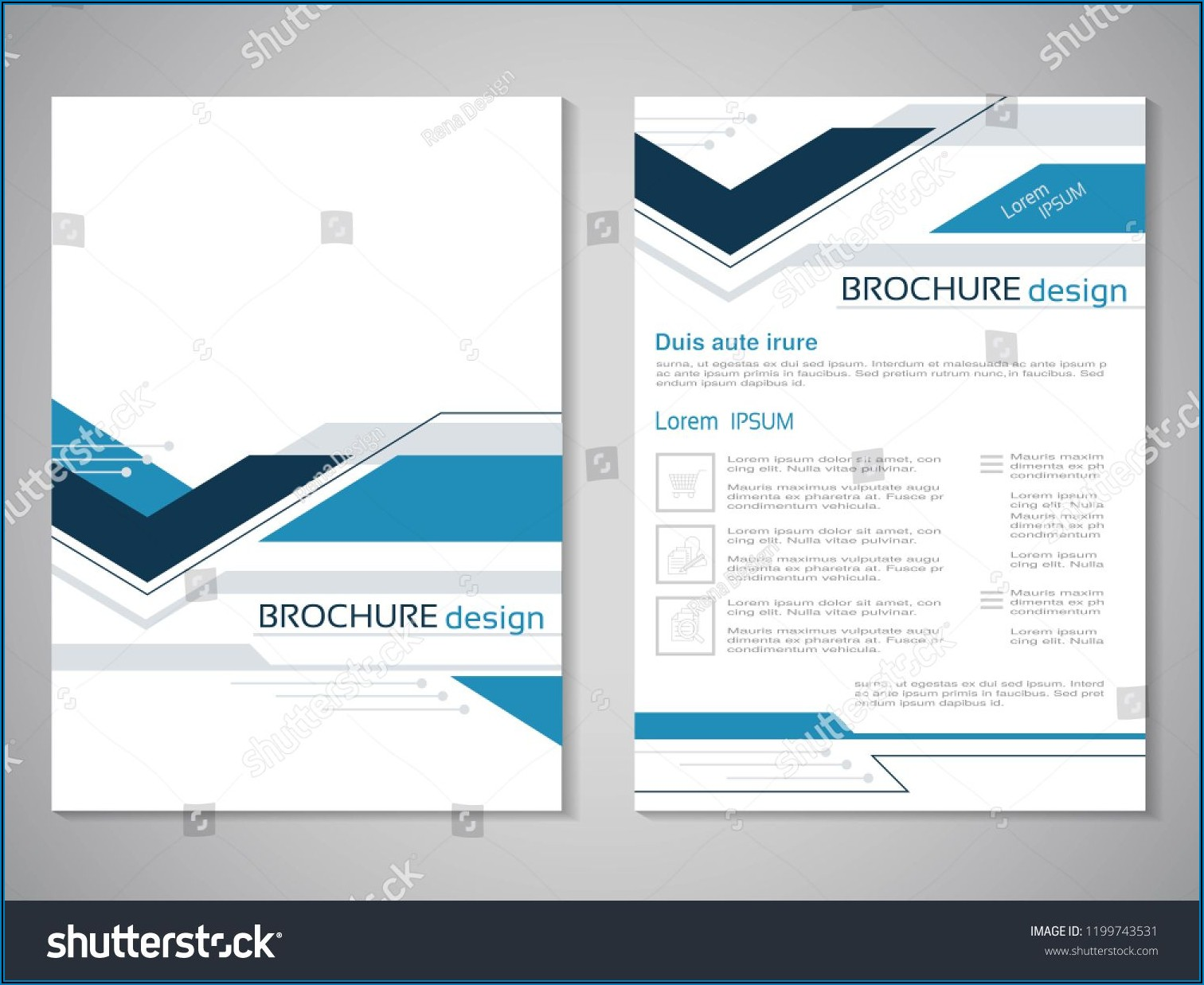 Brochure Design Background Vector