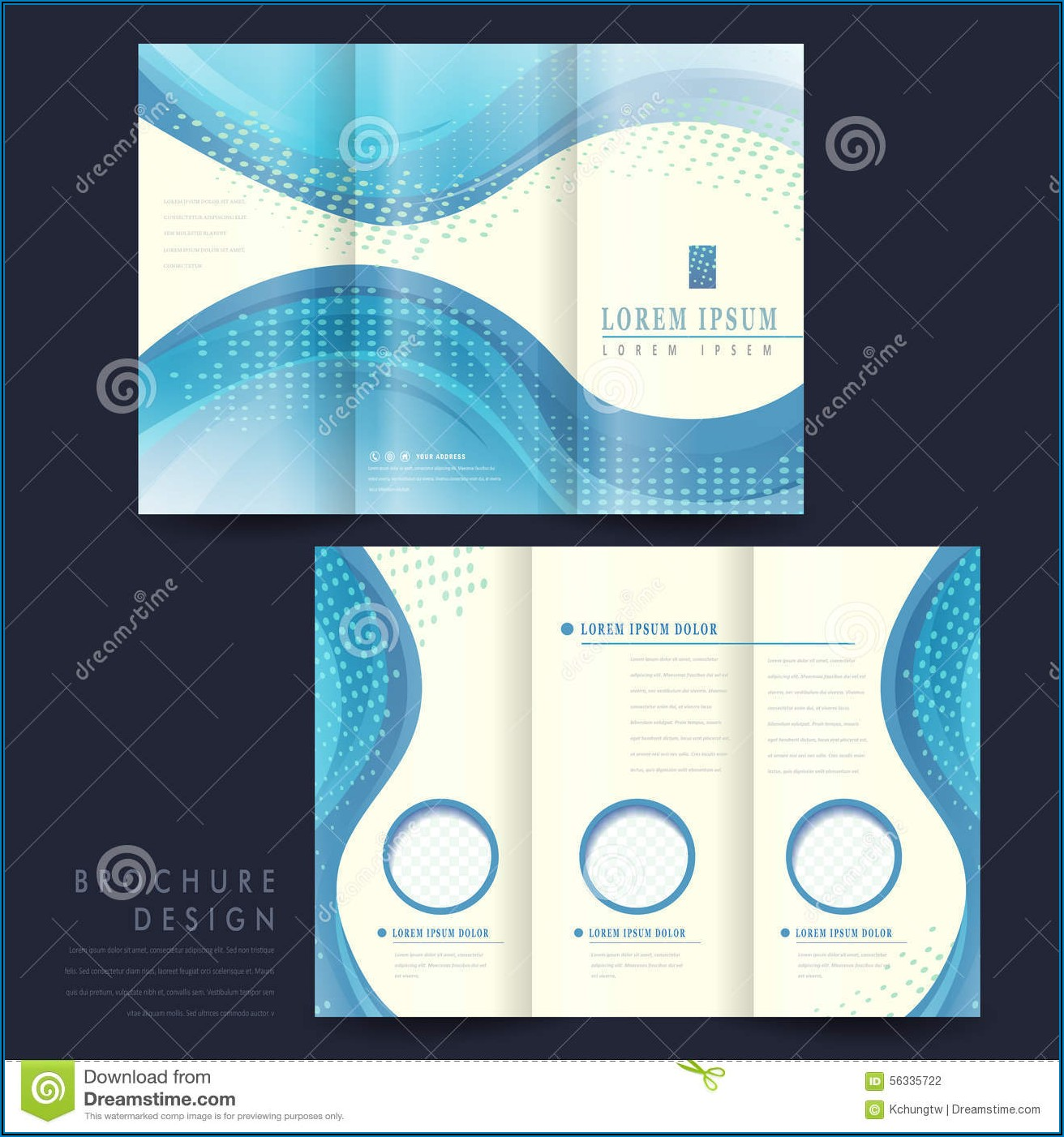 Brochure Template Tri Fold Brochure Background Design