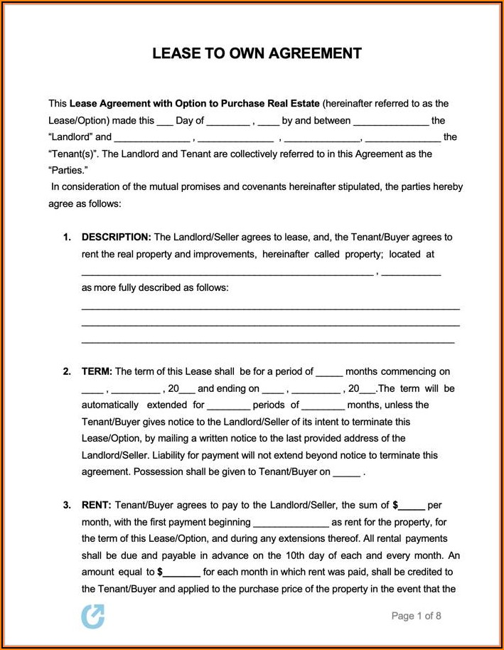 Car Lease Forms Free