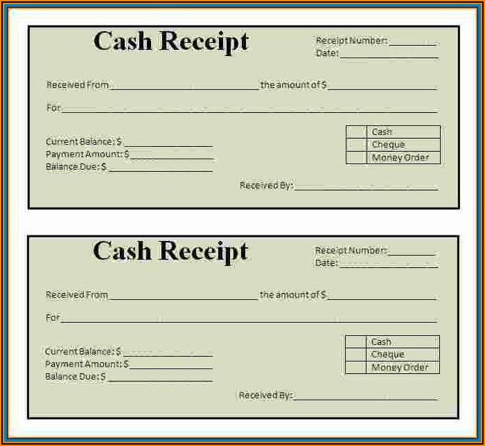 Cash Receipt Forms Free Download