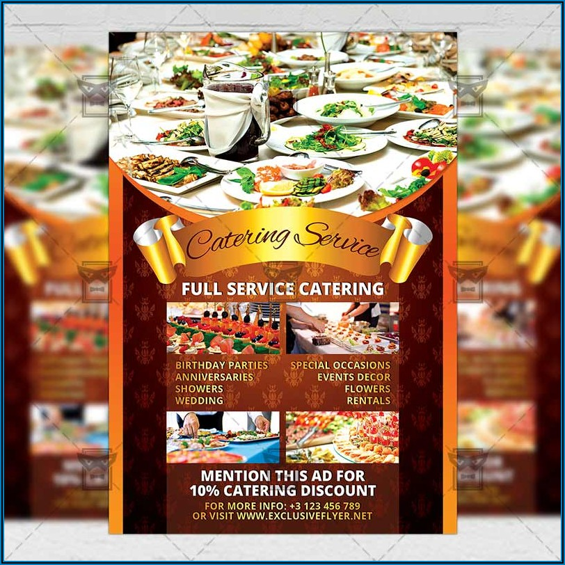 Catering Brochure Design Free Download