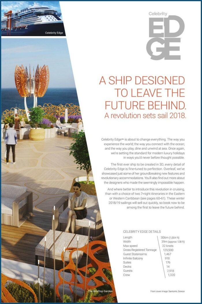 Celebrity Cruises Brochure 2019