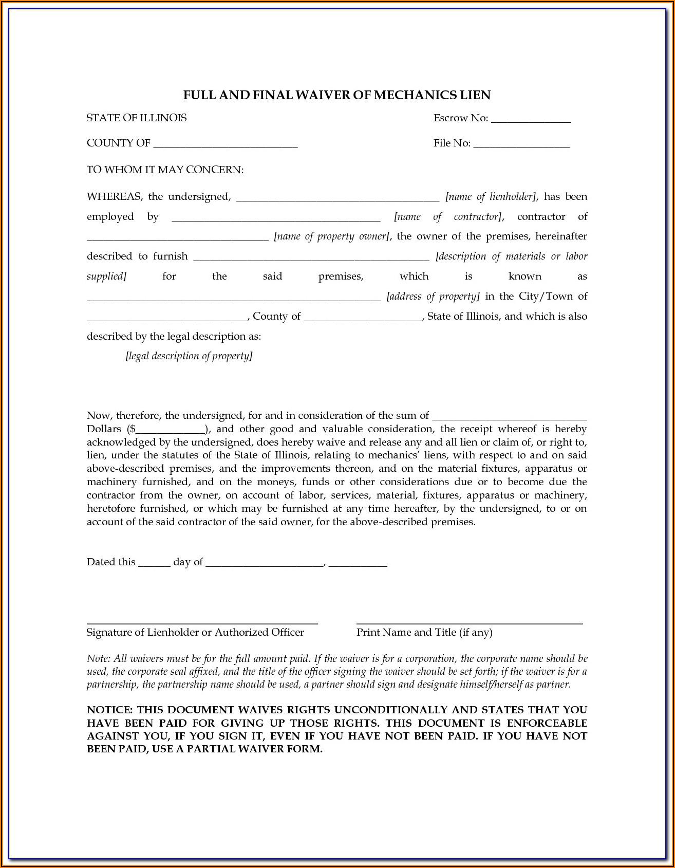 Certificate Of Release Of Federal Tax Lien Form 668(z)