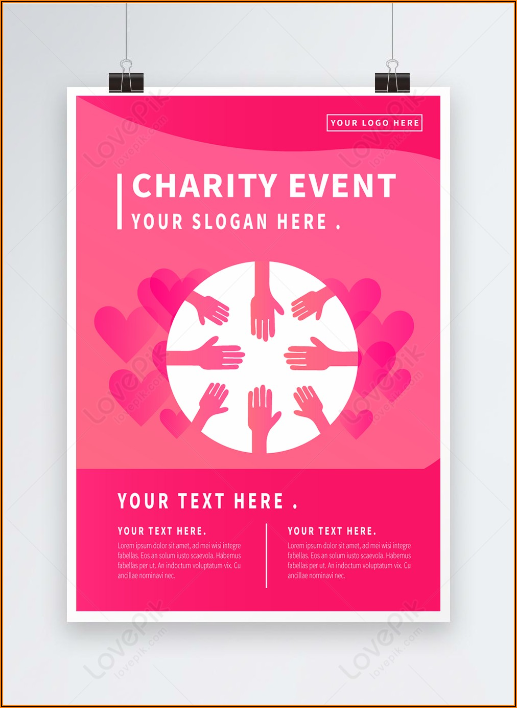 Charity Event Poster Template Free