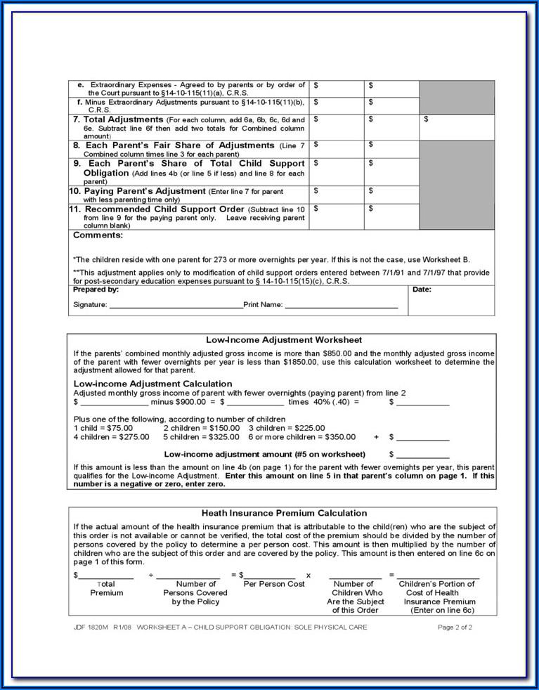 Child Custody Modification Forms Colorado