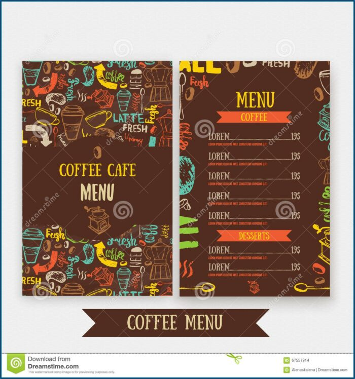 Coffee Shop Brochure Design Free Download