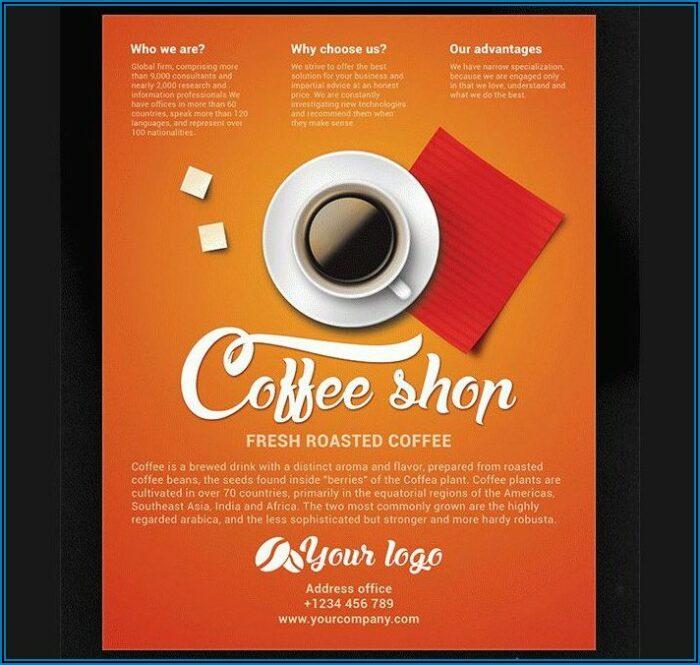Coffee Shop Brochure Template Free Download