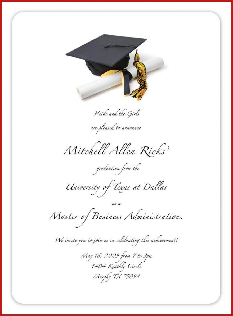 College Graduation Announcement Templates