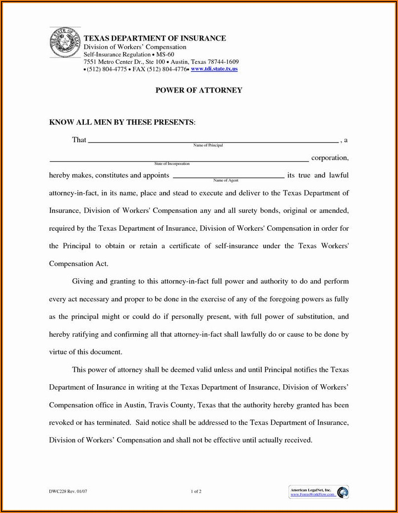 Colorado Medical Power Of Attorney Form