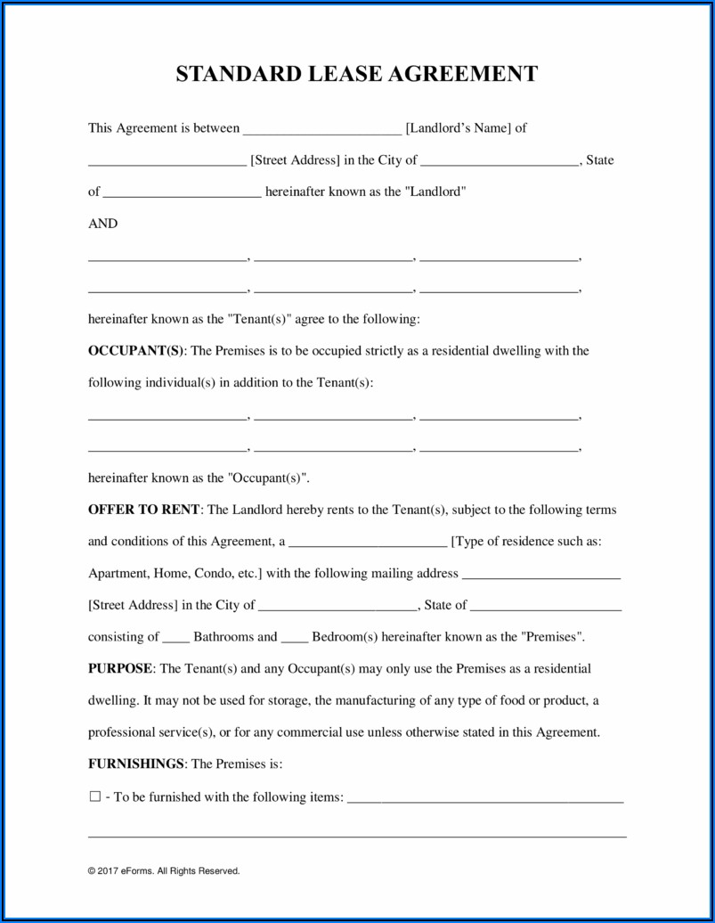 Commercial Lease Agreement Free