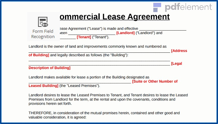 Commercial Lease Agreement Victoria Free Download