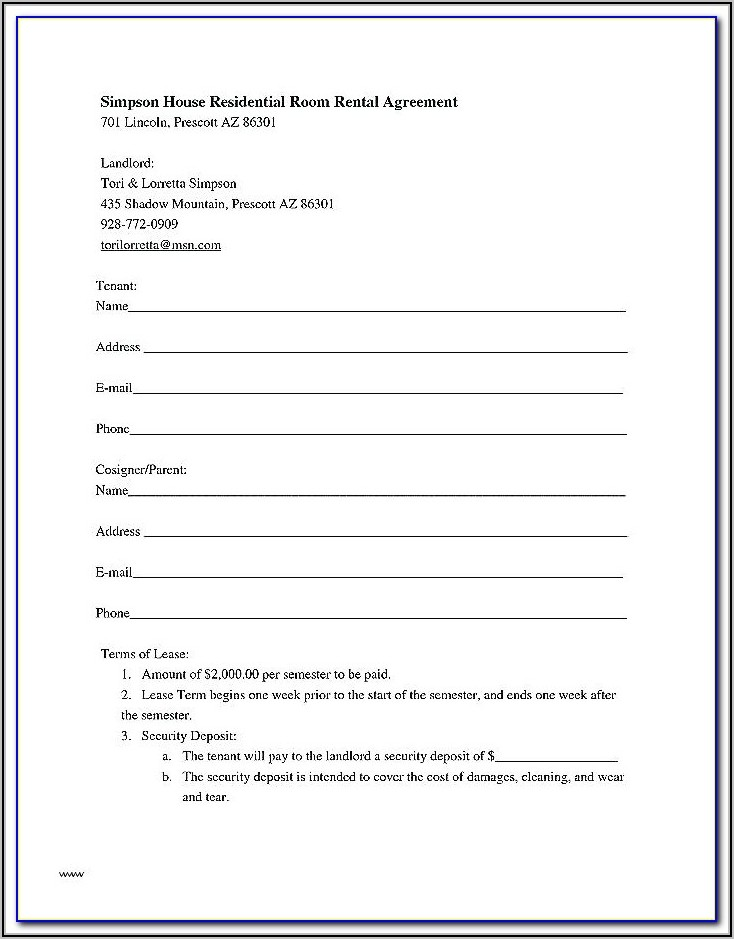 Commercial Property Tenancy Agreement Template