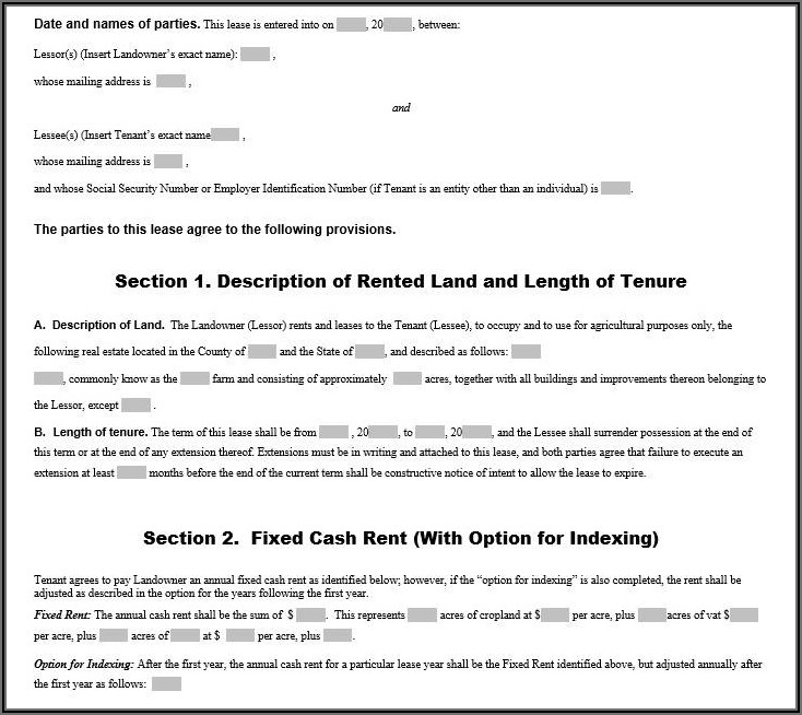 Commercial Tenancy Lease Agreement Template