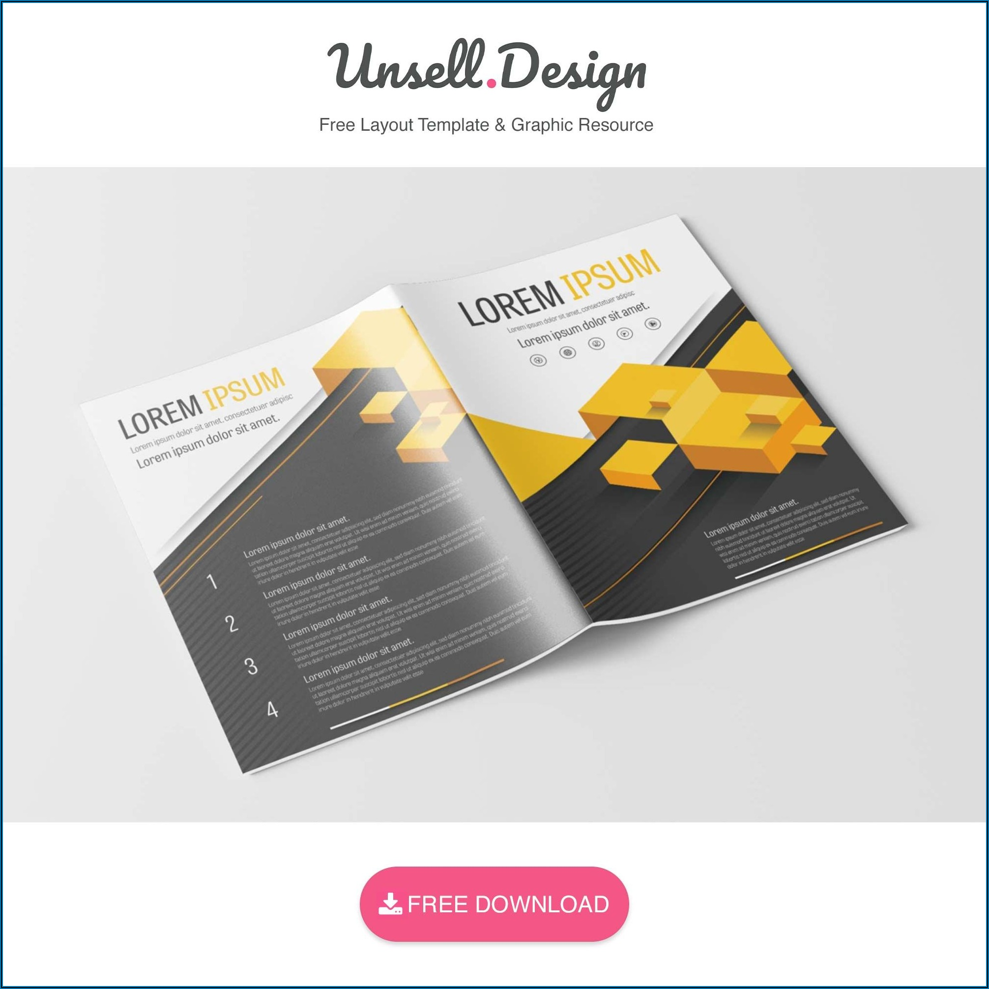 Corporate Brochure Design Free Template