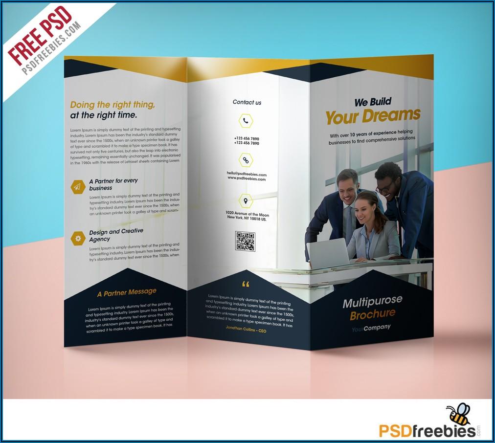Corporate Brochure Template Free Download