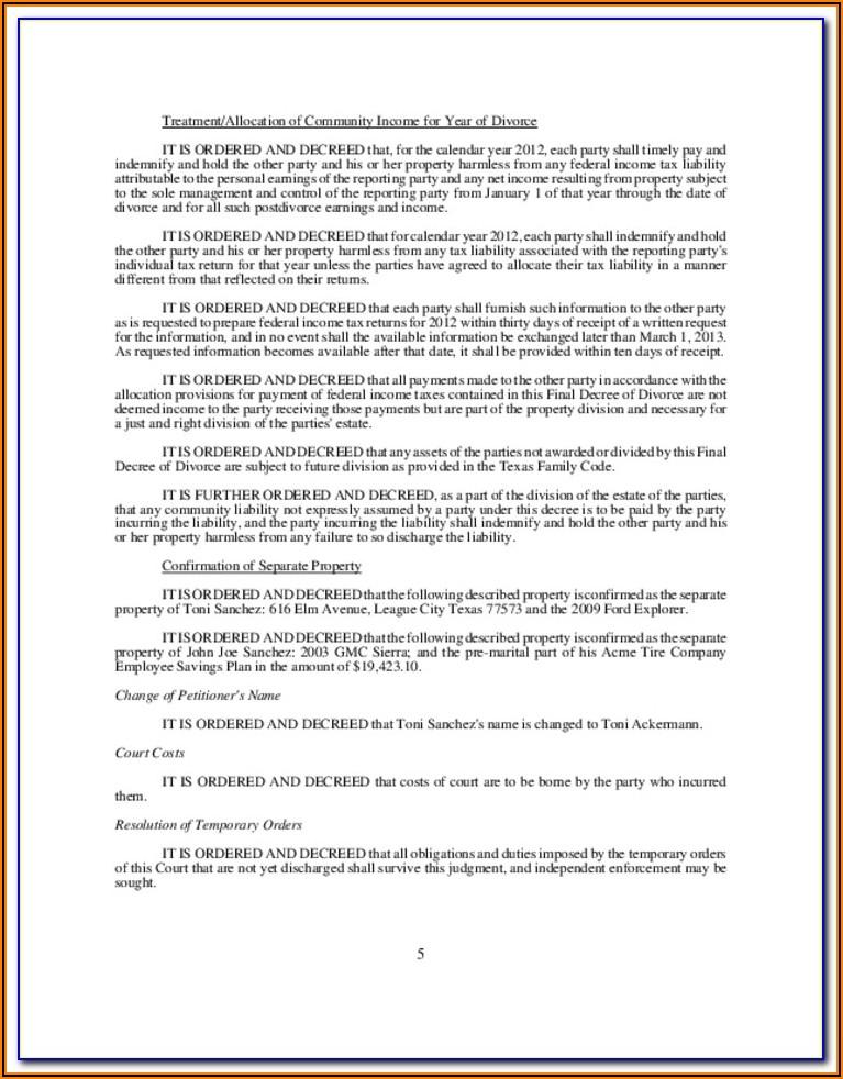 Decree Of Divorce Form Kansas