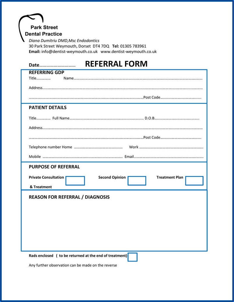 Dental Extraction Consent Form Template